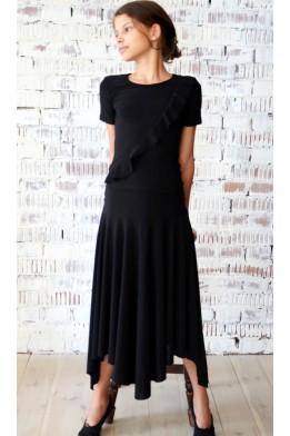 Assymetric ballroom skirt