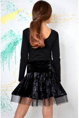 Dance crush velvet skirt black