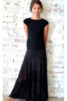 Ballroom skirt with net details