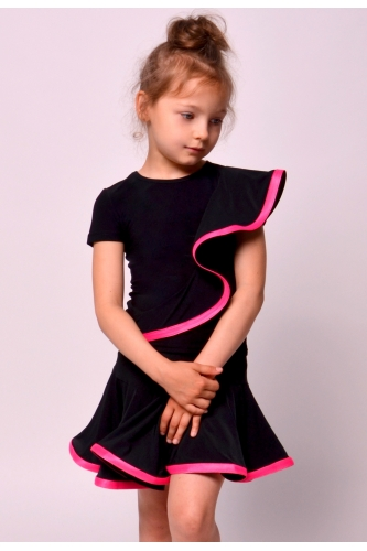 Dance skirt with pink soft crinoline