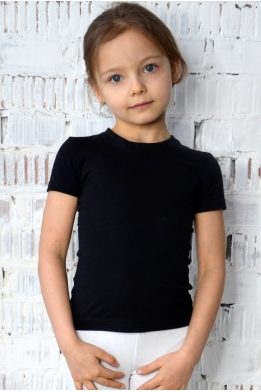 T-shirt for dance and gymnastics black
