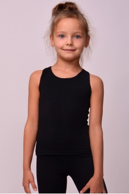 T-shirt for sports and dancing in black cotton lycra