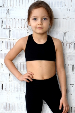 Tank top in black cotton lycra