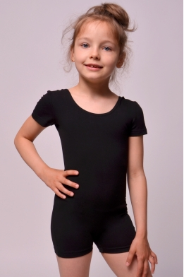 Classic short unitard for dance and gymnastics