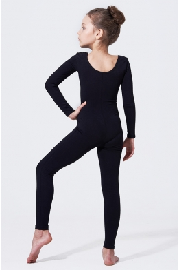 Classic long unitard for dance and gymnastics