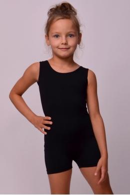 Classic short unitard for dance and gymnastics