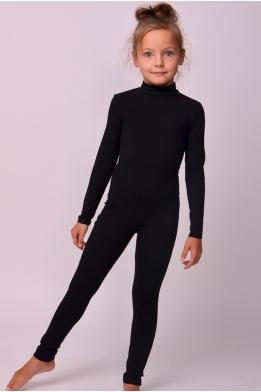 Unitard with high neck for dance and gymnastics