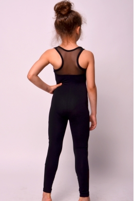 Unitard with net for dance and gymnastics