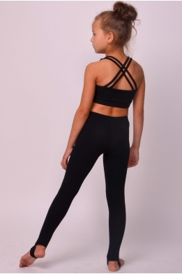 Leggings for dance and gymnastics black