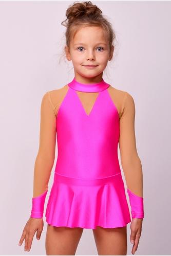 Lycra gymnastics leotard, bright pink