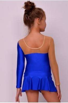 Купальник для гимнастики из бифлекса, ярко-синий