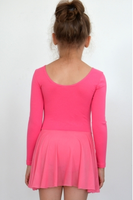 Leotard with skirt for dance and gymnastics pink