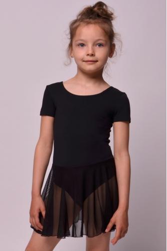 Leotard with skirt for dance and gymnastics black