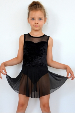 Leotard with skirt black